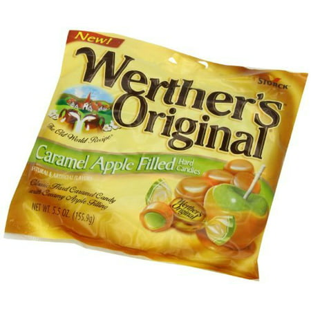 Werthers Caramel Apple Filled Hard Candies, 5.5 oz (Pack of 4)