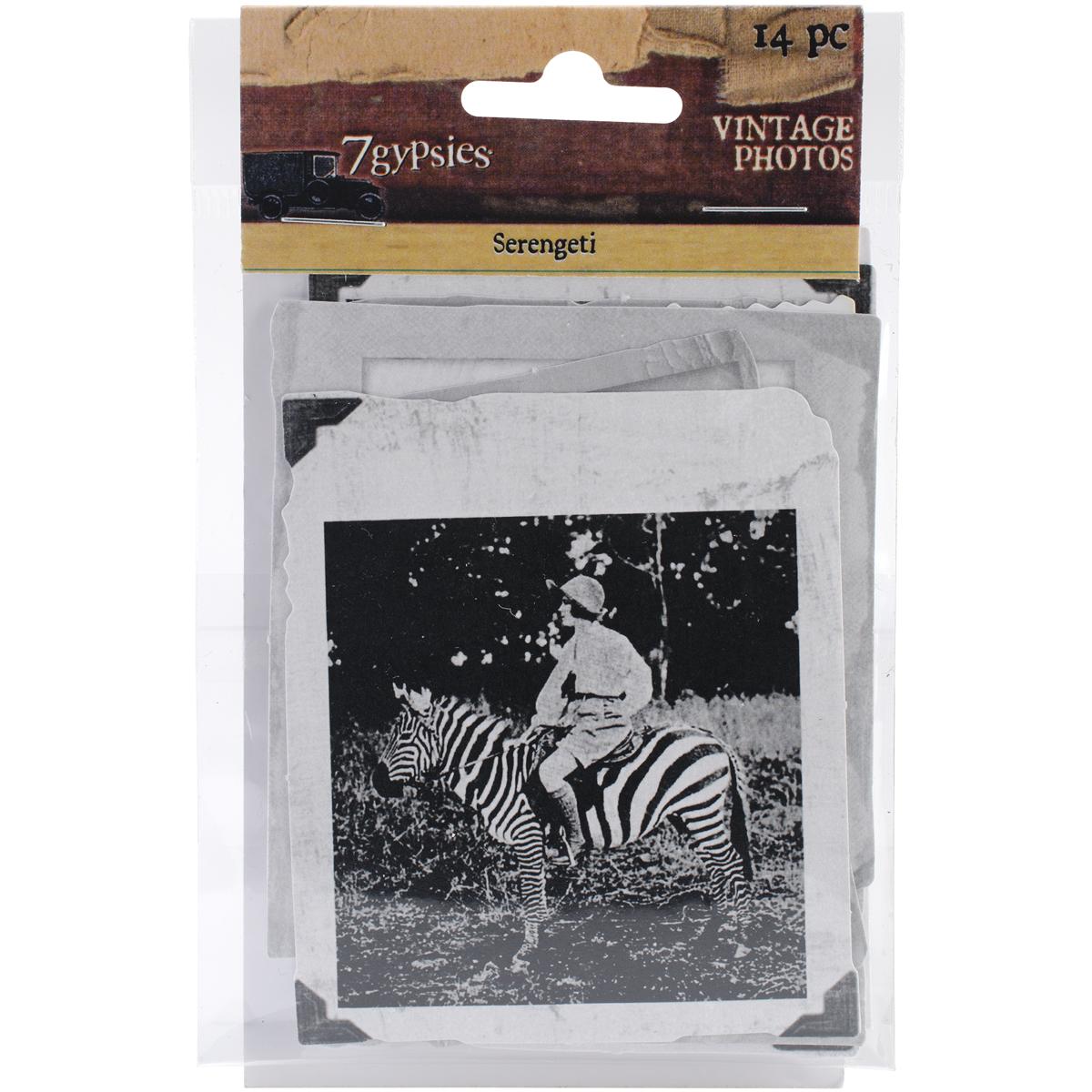 7 Gypsies 7G18022 Serengeti Vintage Photo, 14-Pack Multi-Colored