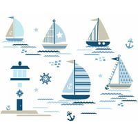 WallPops Ships Ahoy Wall Art Kit
