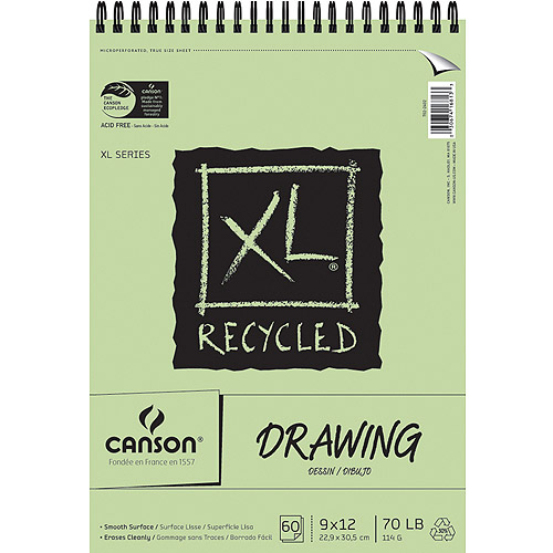 Canson XL Recycled Drawing Paper Pad, 60 Sheets
