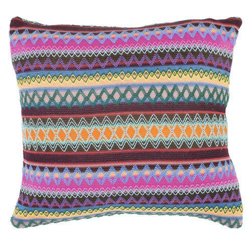 Mckenzie Chocolate Burst Decorative Pillows - Set of 2 (18 in. L x 18 in. W (4 lbs.))