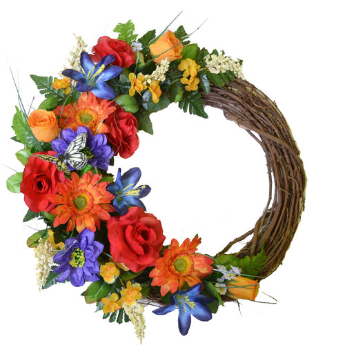 Floral Home Decor 19'' Floral Wreath