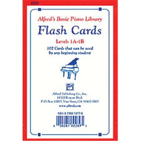 - Alfred 00-2283 Basic Piano Library- Flash Cards- Levels 1A & 1B - Music Book