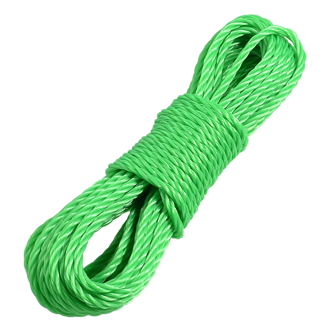 Home Outdoor Green Twisted Nylon Clothes Rope String Line 9.4M