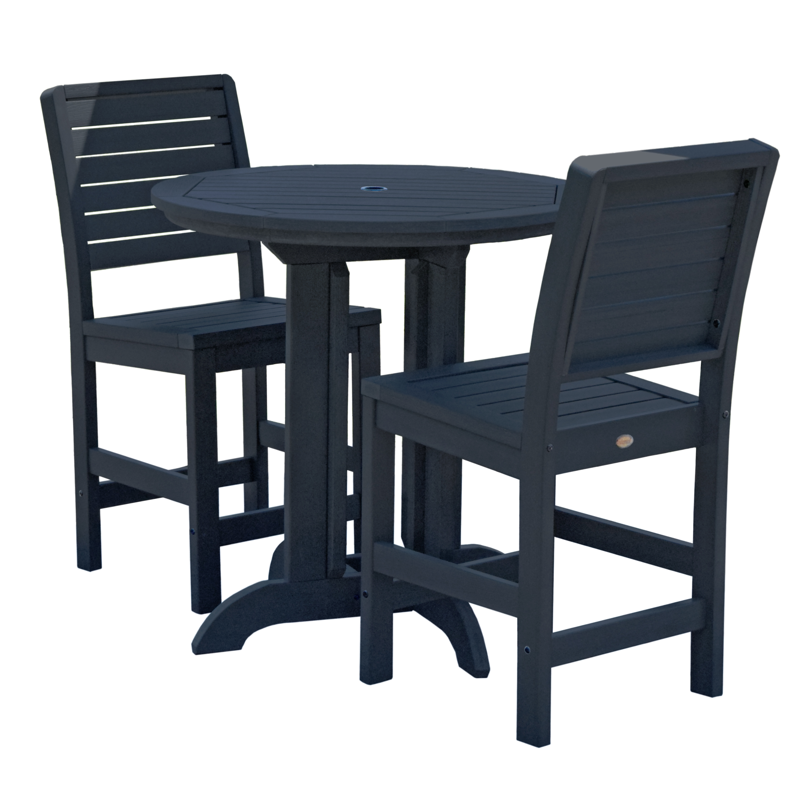 highwood® Eco-Friendly Weatherly 3pc Round Counter Dining Set