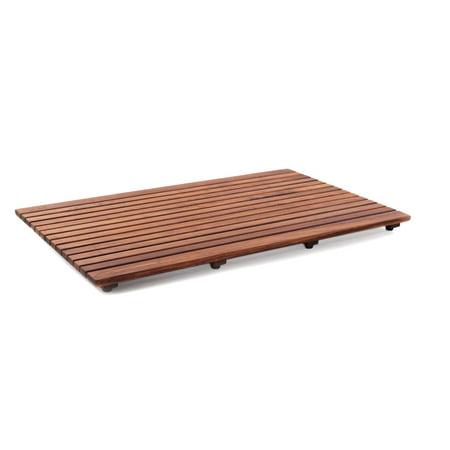 Teak Shower Accessories - Nordic Style  Oiled Teak Shower Mat 31.4
