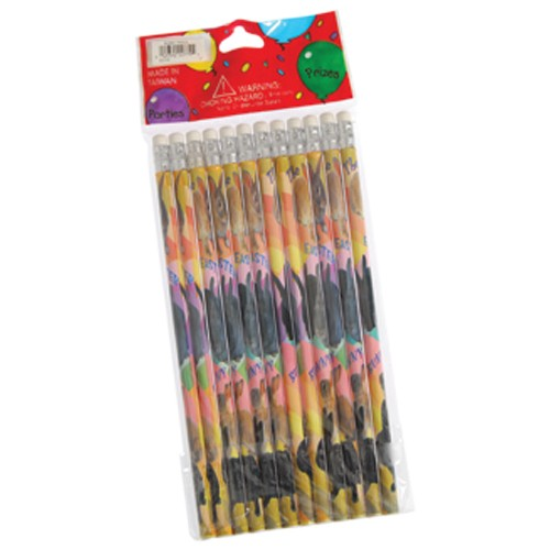 Colorful Easter Bunny Pencils 12 pc Easter Basket Fillers Party Favor