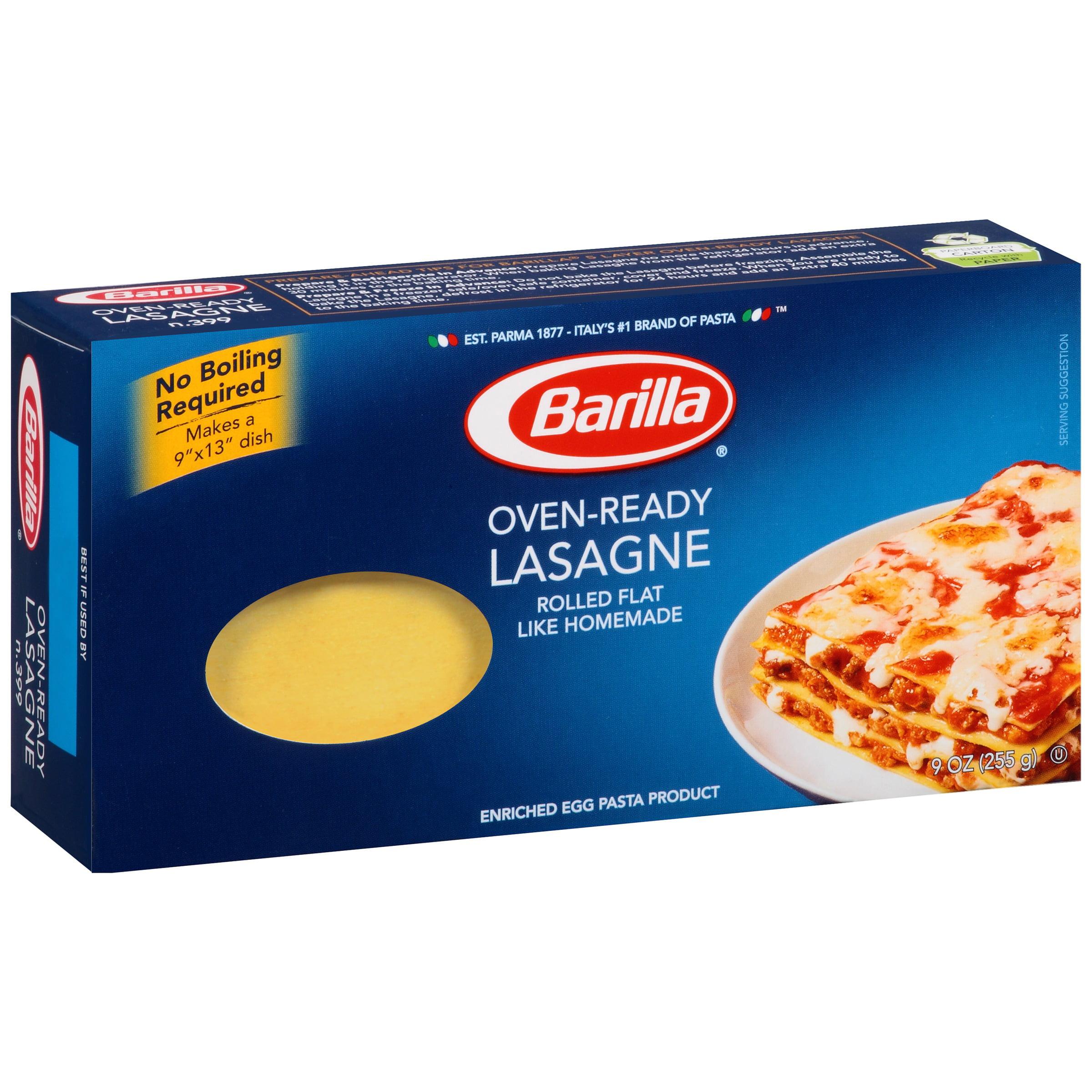Barilla Oven-Ready Lasagne Pasta, 9 oz by Barilla America