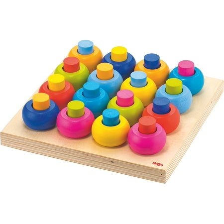 Palette of Pegs - 32 Piece Wooden Pegging & Arranging Game for Ages 2 and UpIncludes 32 parts (16 pegs and 16 rings) and pegging board. Board is Measures 7.5.., By HABA
