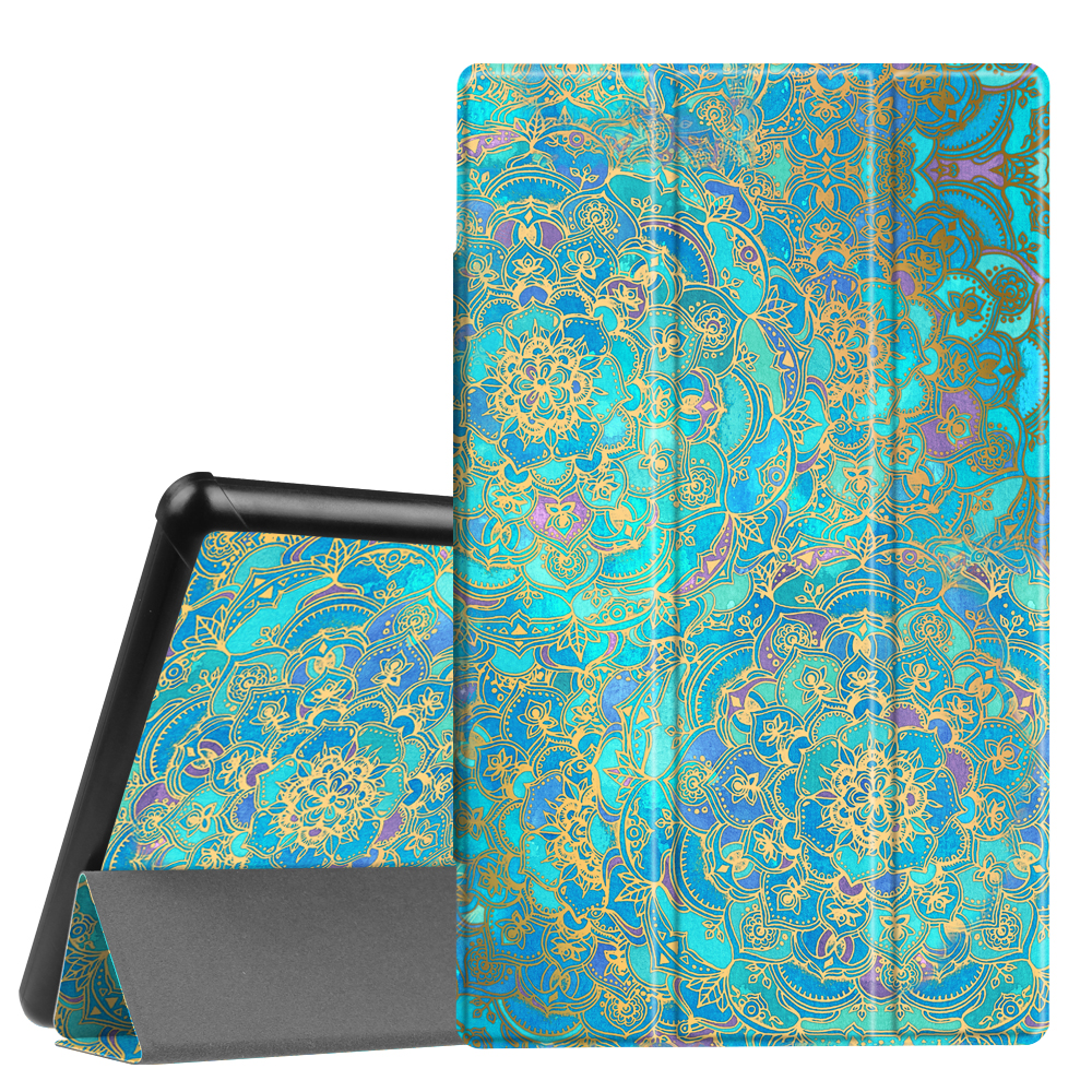 Fintie Slim Case for All-New Amazon Fire HD 10 7th Gen, 2017 Release - Ultra Lightweight Stand Cover, Shades of Blue