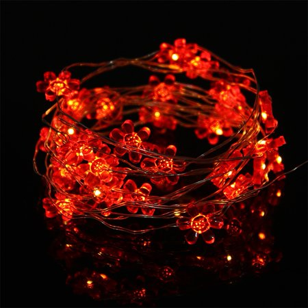 20 LED Sunflower Shape String Light Button Cell Powered Lamp for Party Wedding Festival Garden Home Decor