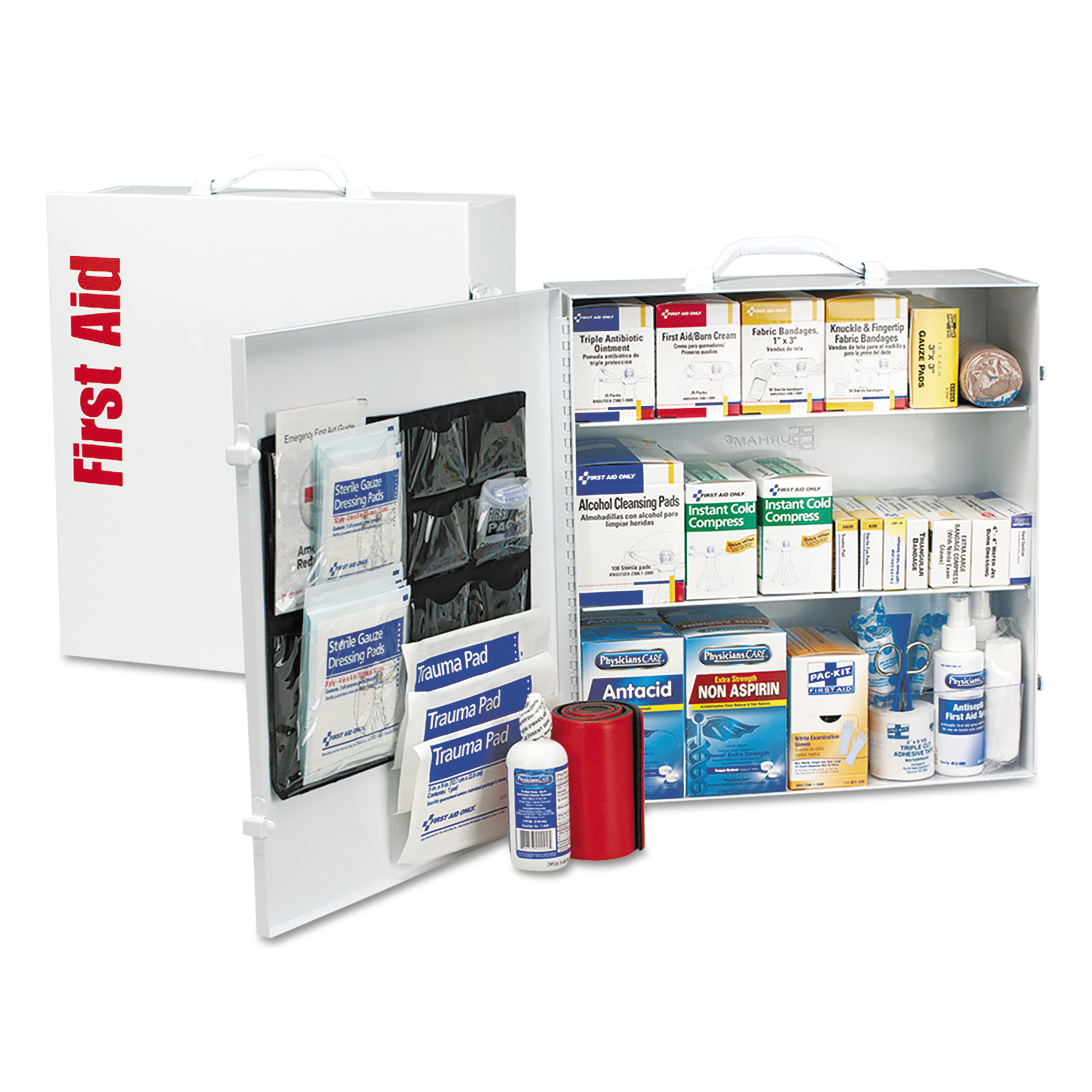 First Aid Only ANSI 2015 Class A+ Type Iⅈ Industrial First Aid Kit 100 People, 676 Pieces by FIRST AID ONLY, INC.