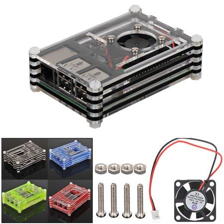 EEEKit 2in1 Starter Kit for Raspberry Pi 3 Model B, Raspberry Pi Sliced 9 Layers Case Box & Cooling