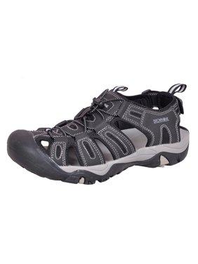 Brown Oak Men's Closed Toe Outdoor Hiking Water Shoes Sport Sandals