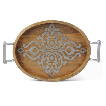 - GG Collection Wooden Oval Tray