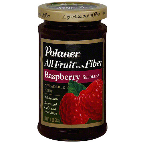 Polaner Red Raspberry Spreadable Fruit, 10 oz (Pack of 12)