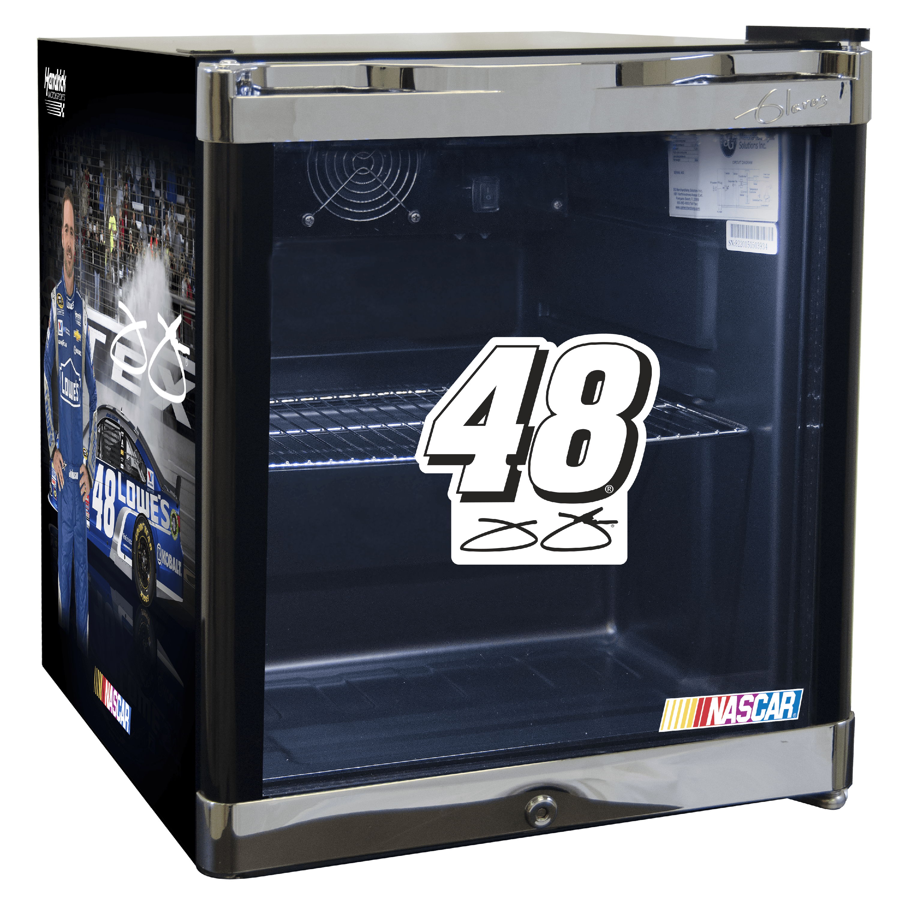 NASCAR Refrigerated Beverage Center 1.8 cu ft - Jimmie Johnson