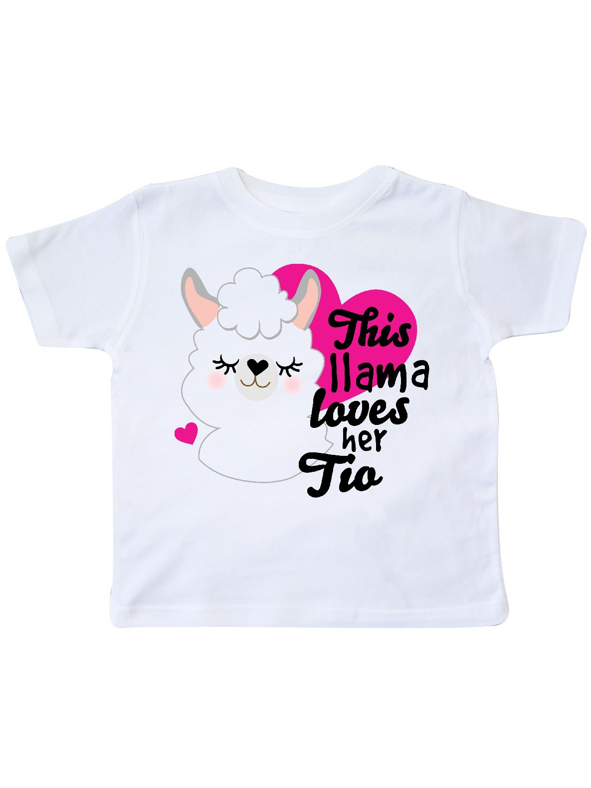 inktastic Valentines Day This Llama Loves Her TIO Toddler T-Shirt