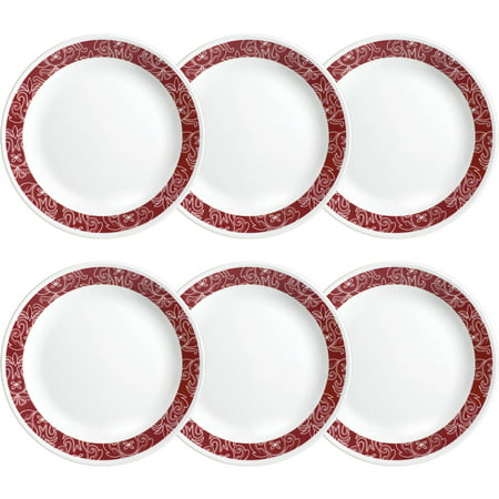 "Corelle Livingware Bandhani 10.25"" Dinner Plate, Set of 6"