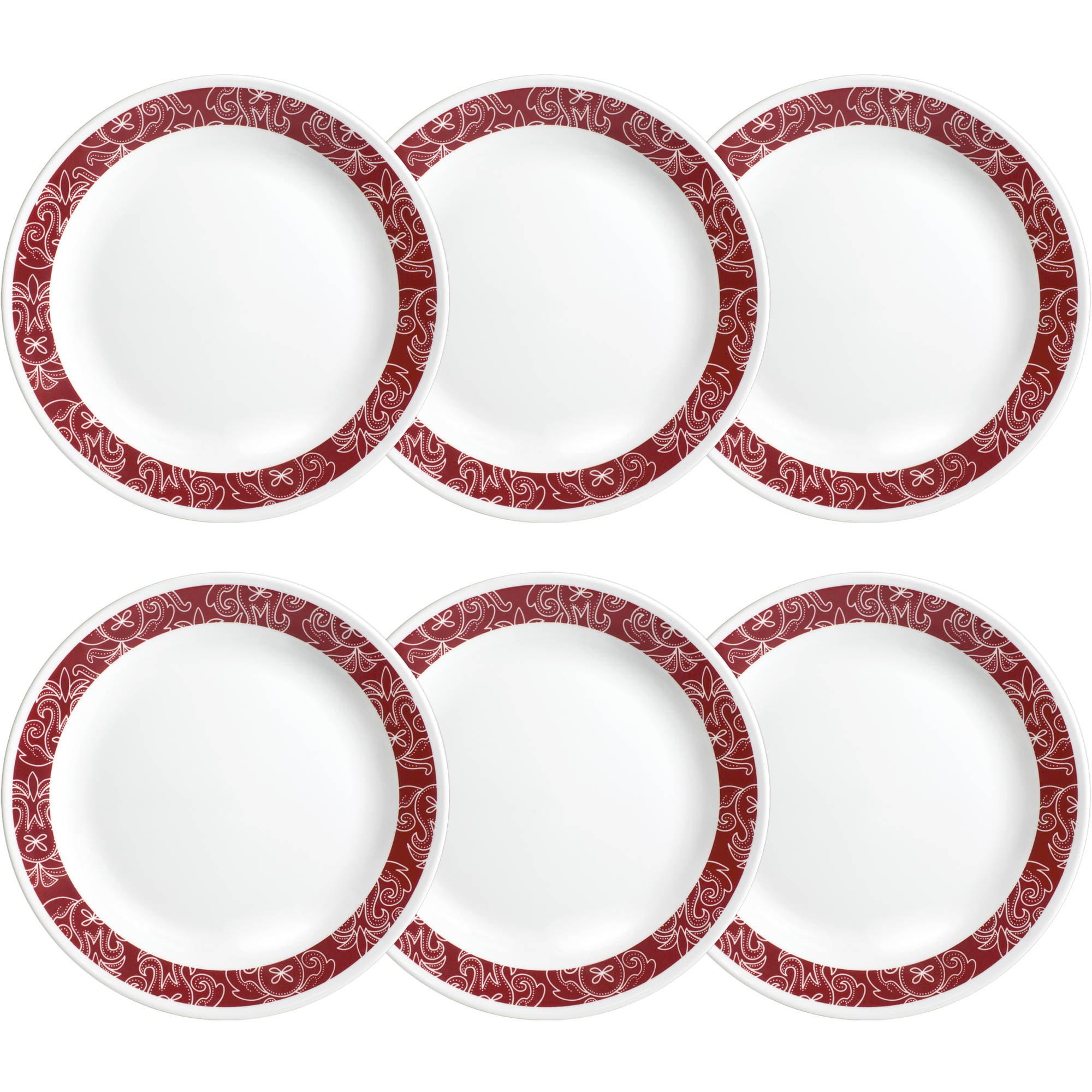 """Corelle Livingware Bandhani 10.25"""" Dinner Plate, Set of 6"""