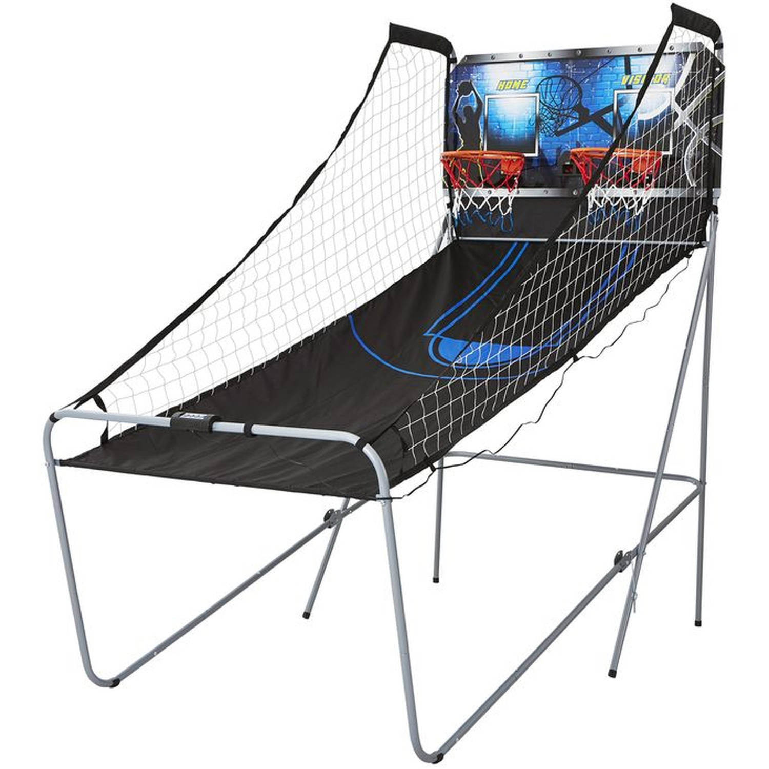 MD Sports 2-Player Arcade Basketball Game with 8 Game Options, All accessories are included, Black/Blue