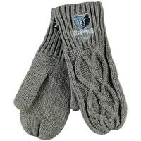Memphis Grizzlies ZooZatz Women's Cable Knit Mittens - No Size