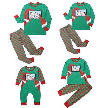 b39ad27d71 XMAS PJs Family Matching Adult Women Kids Baby Christmas Santa Nightwear Pyjamas  Pajamas - Walmart.com