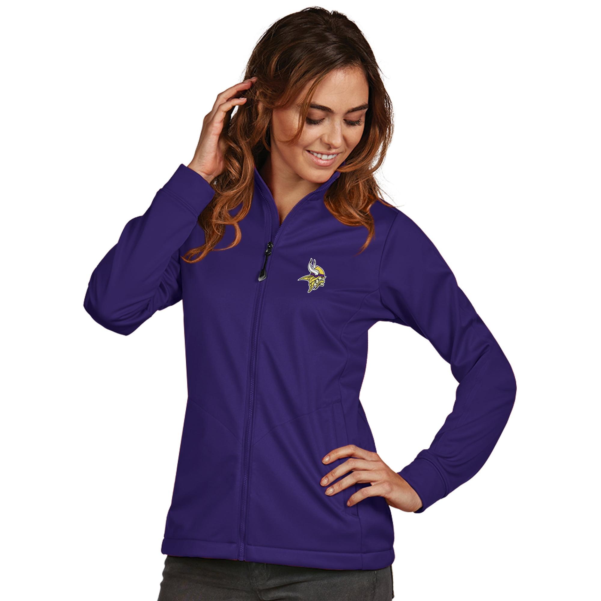 Minnesota Vikings Women's Antigua Full-Zip Golf Jacket - Purple