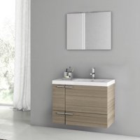 ACF Bathroom Vanities New Space 32'' Single Bathroom Vanity Set with Mirror