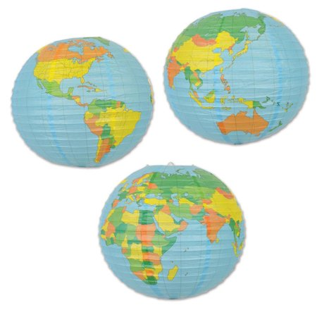 (Pack of 12) Beistle Globe Paper Lantern