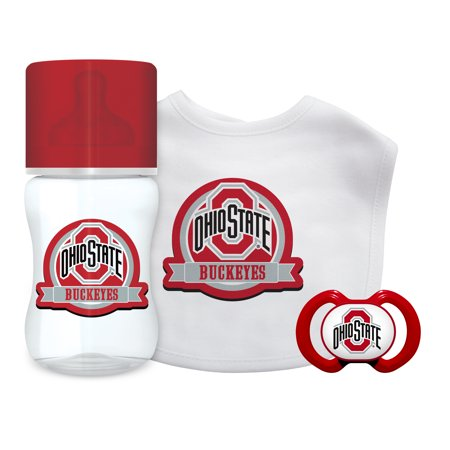 NCAA Ohio State University 3-Piece Baby Gift Set - Ohio State Baby Clothes