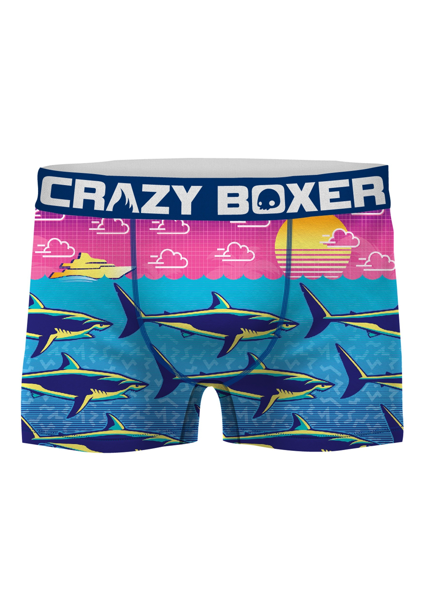 Shark Art Pattern Mens Boxer Briefs Underwear