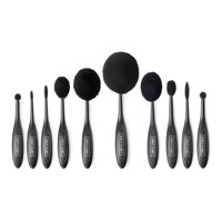 Vanity Planet Blend Party - Oval Makeup Brush Set - Black