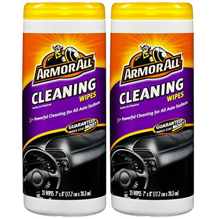 Armor All 10832 Cleaning Wipe - 25 Sheets - 2 Pack