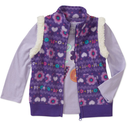 Healthtex Baby Girls Printed Vest and Long Sleeve Tee Set