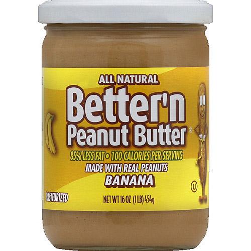 Better'n Peanut Butter Banana Spread, 16 oz, (Pack of 6)