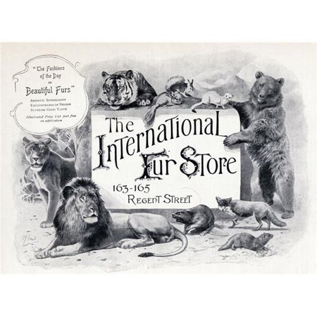 Posterazzi DPI1856401 Advertisement for The International Fur Store From The Connoisseur A Magazine Poster Print, 17 x 12 - image 1 of 1