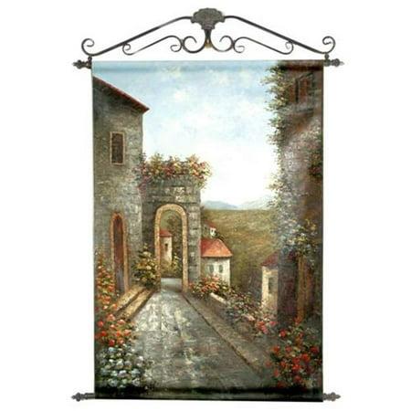 Graphics International TV21-B Stone Walkway Outside Villa - 36 X 54 Inch Painted Wall (Villa Stone)