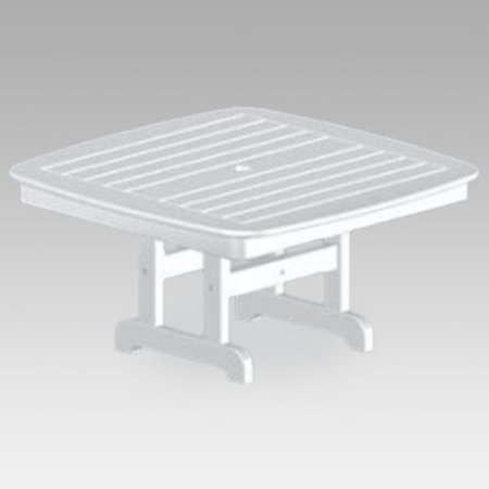 POLYWOOD Nautical Recycled Plastic Conversation Patio Table