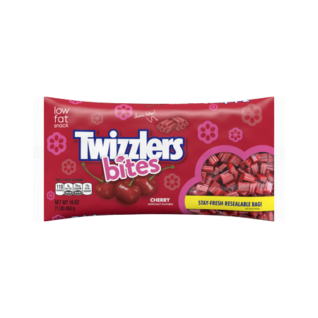 Twizzlers Bites Cherry Licorice Chewy Candy, 16 Oz. - Licorice Twizzlers