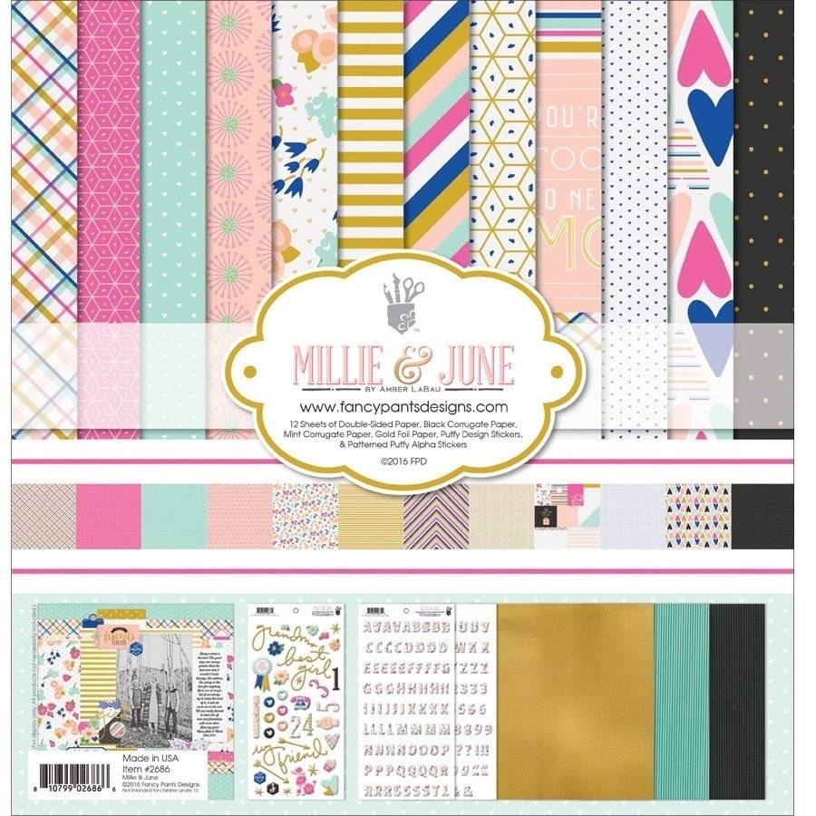 "Fancy Pants Designs Collection Kit, 12"" x 12"", Millie and June"