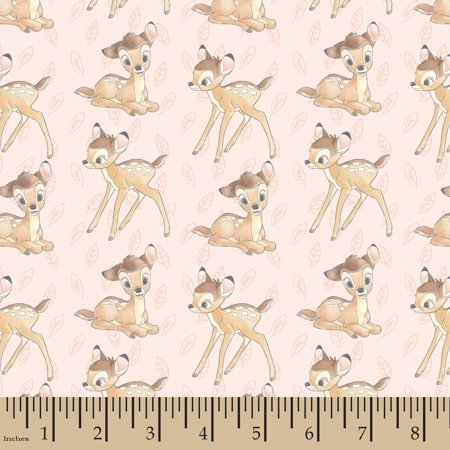 Disney Fashion Trend Bambi Toss Cotton Fabric by the yard](Wholesale Disney Fabric)