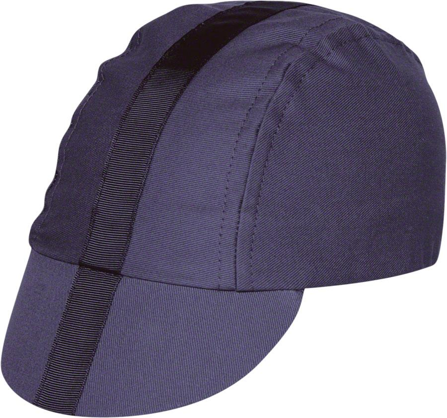 Pace Sportswear Classic Cycling Cap: Charcoal with Black Tape, MD/LG