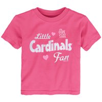 St. Louis Cardinals Girls Toddler Fan T-Shirt - Pink