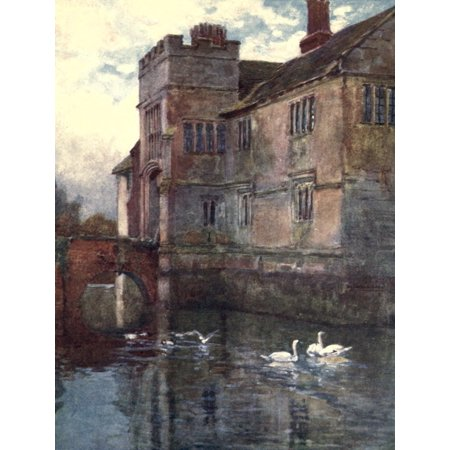 Baddesley Clinton Hall Stretched Canvas - F Whitehead (18 x 24) - Baddesley Clinton Halloween