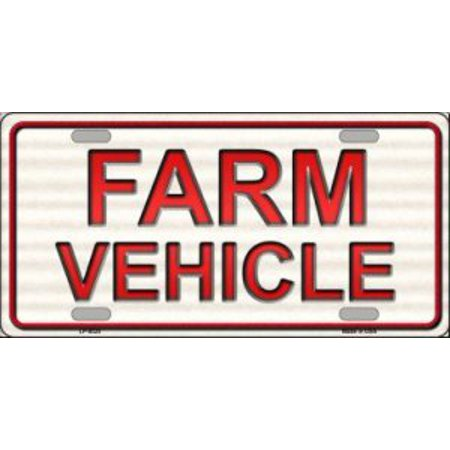 Farm Vehicle Metal License Plate - Farm Plates