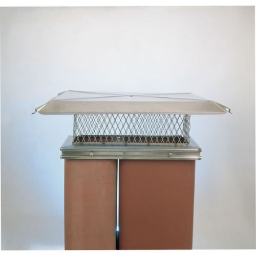"Gelco 9"" x 22"" Stainless Steel Single-Flue Chimney Cap 3/4"" Mesh"