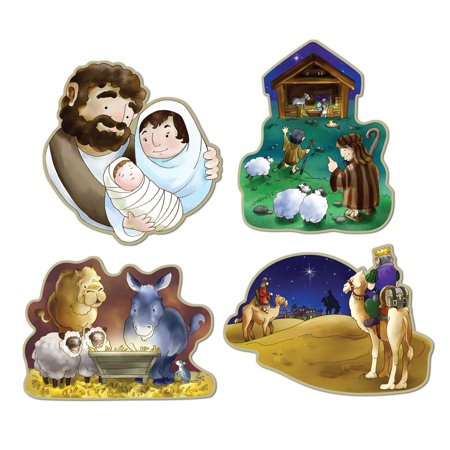 4-Pack Nativity Cutouts, 16-Inch, This item is a great value! By Beistle Ship from US for $<!---->