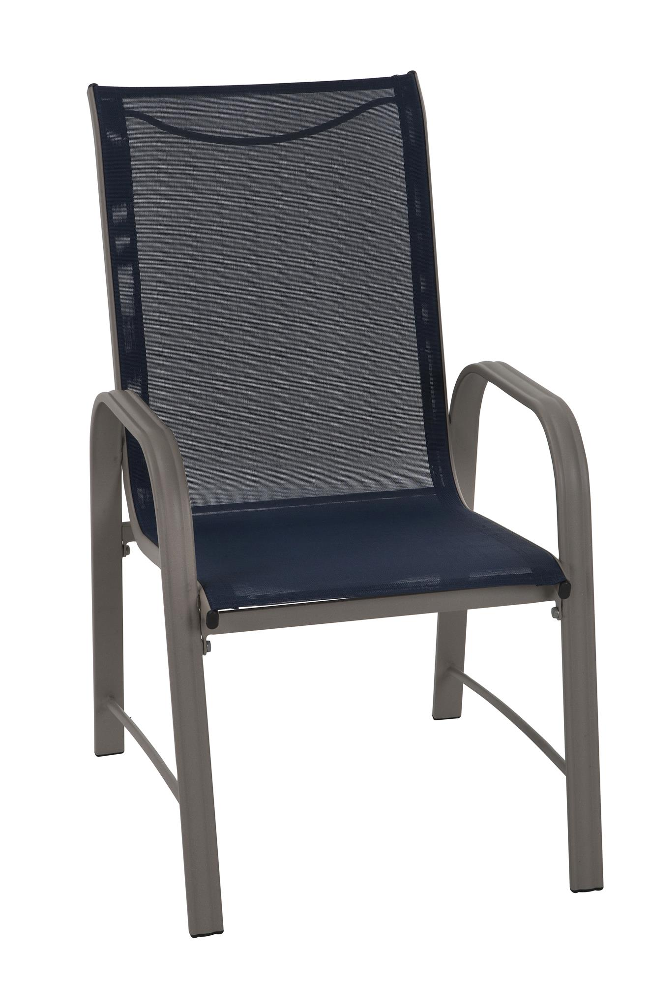 cosco outdoor living paloma steel patio dining chairs navy blue rh walmart com blue sling back patio chairs