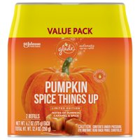 Glade Automatic Spray Refil,Pumpkin Spice Things Up,Air Freshener Infused with Essential Oils 2 CT 12.4 OZ.